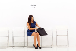business woman waiting for job interview
