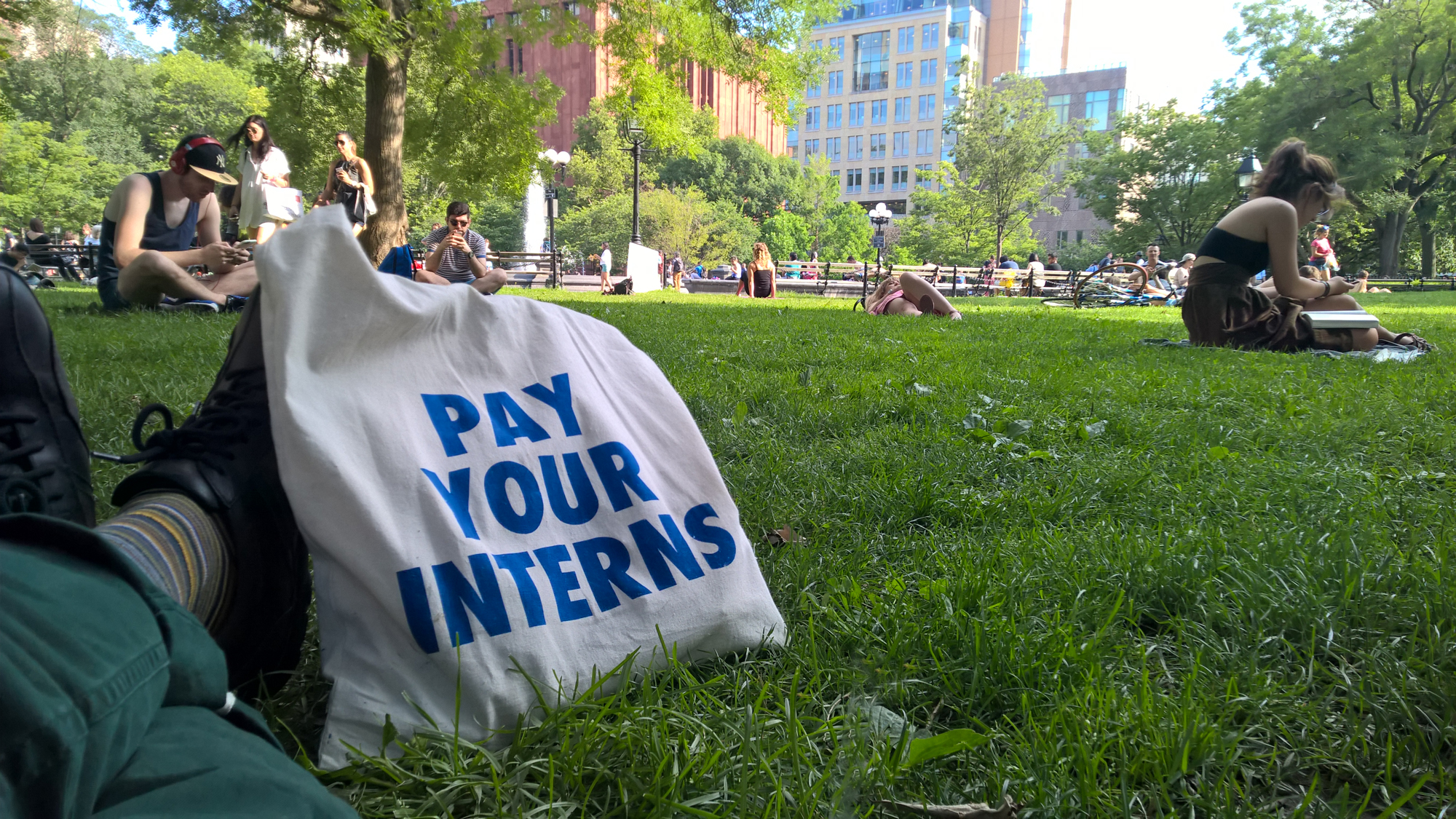 Intern Labor Rights in the Park!